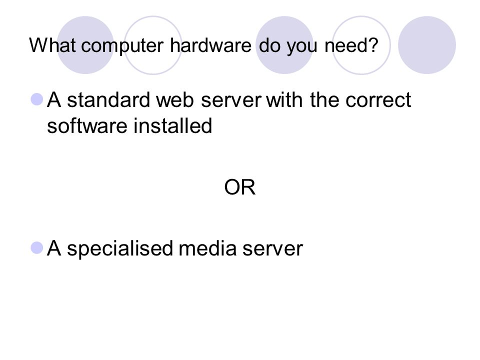 What computer hardware do you need.