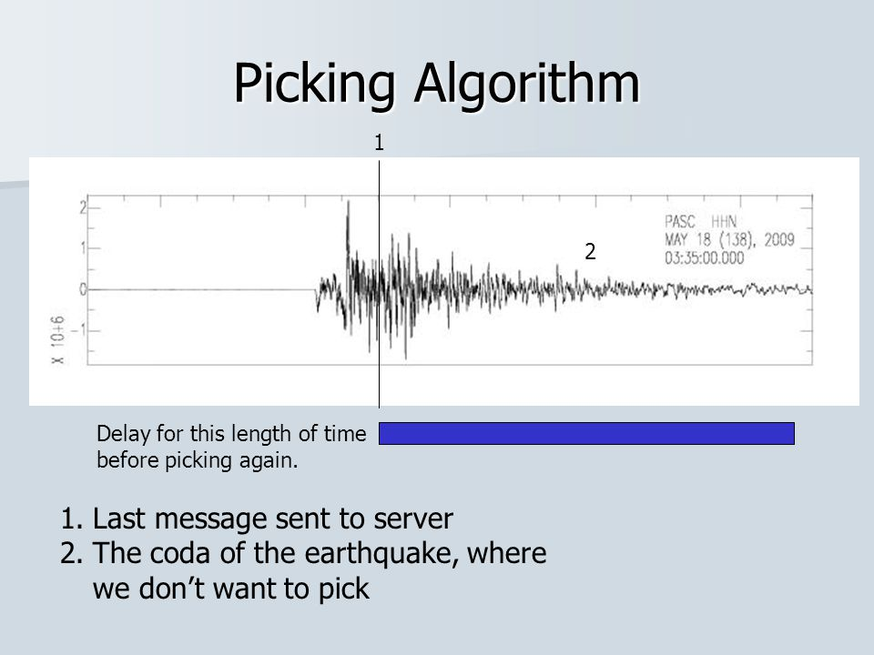 Picking Algorithm Delay for this length of time before picking again.