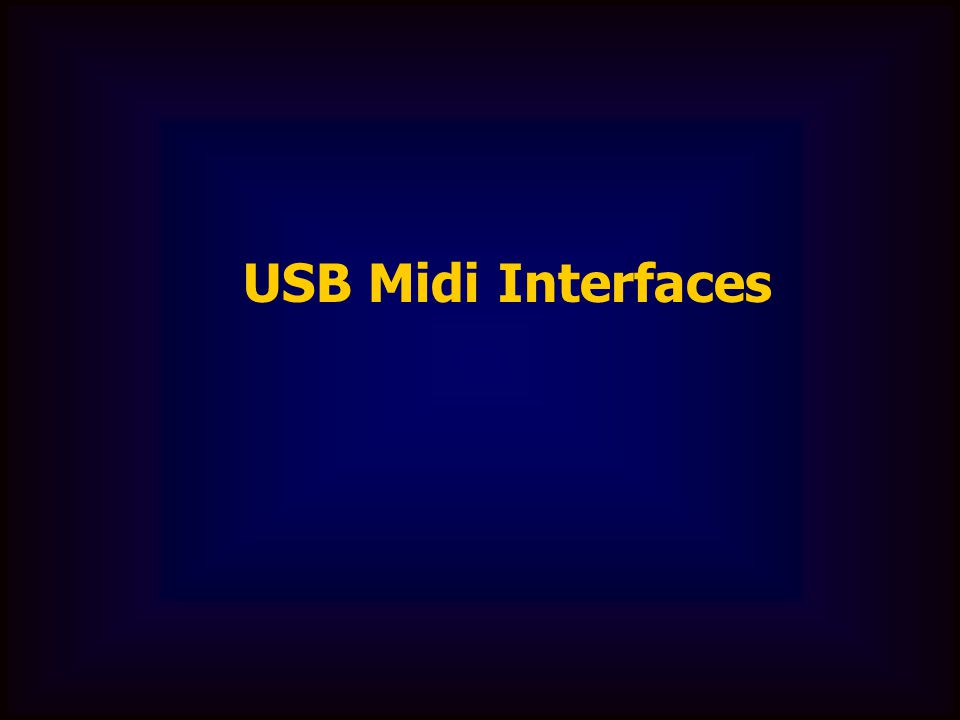 USB Midi Interfaces
