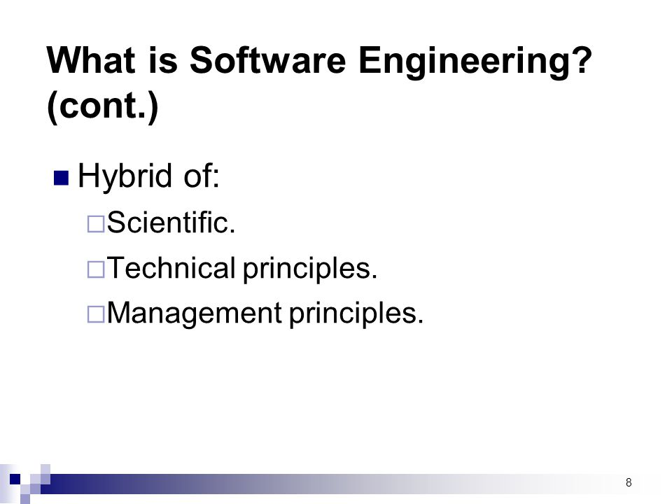9 Software process A set of activities whose goal is the development or evolution of software.