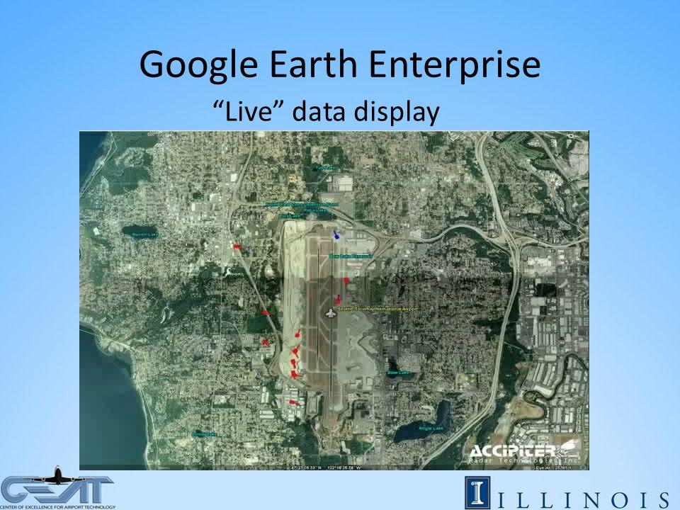 Google Earth Enterprise Live data display