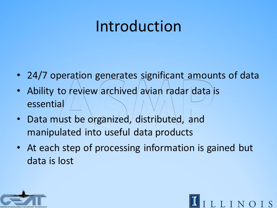 Radar Data Generation Analog Data Generated by Radars on airfields Rutter Card Digitizes Analog Data for the Radar Data Processor Radar Data Processor extracts plots from energy data and links them to form tracks Data flow diagram of an Accipiter Radar Technologies, Inc.