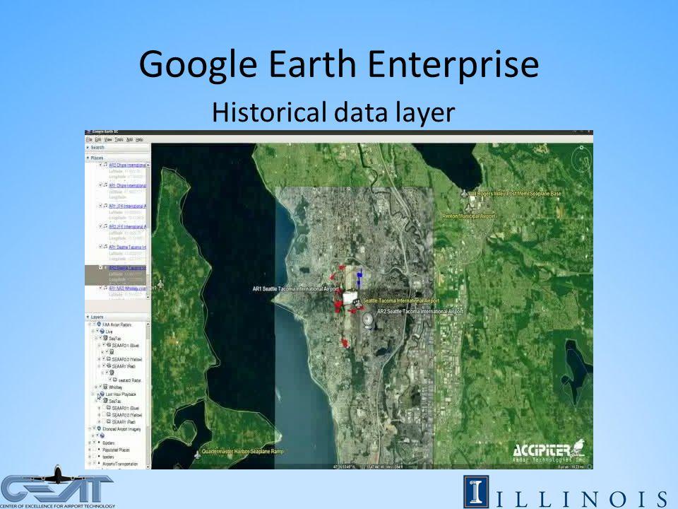 Google Earth Enterprise Historical data layer