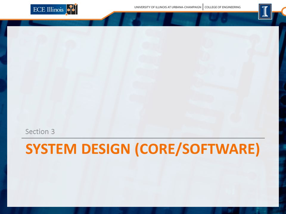 SYSTEM DESIGN (CORE/SOFTWARE) Section 3