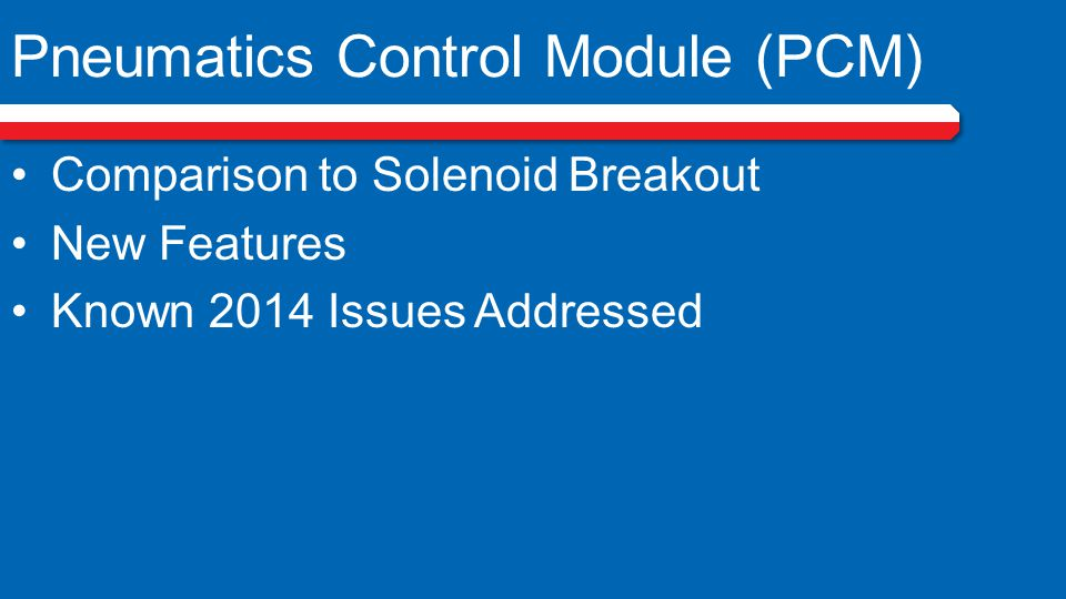 PCM (Pneumatics Control Module)