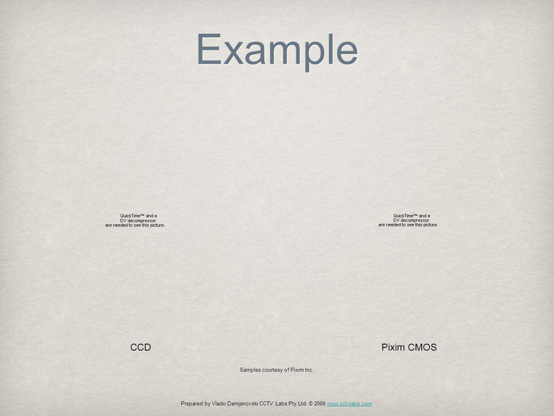 Example CCDPixim CMOS Prepared by Vlado Damjanovski CCTV Labs Pty.Ltd.