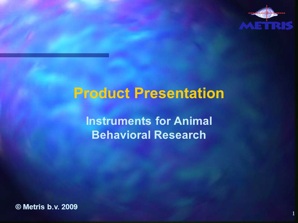2 Content n Company overview n Products n Importance of the energy parameter in Behavioral Pharmacology