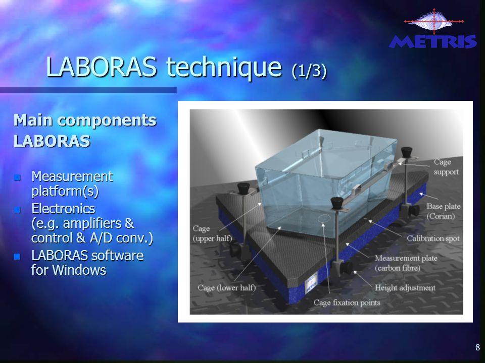 8 LABORAS technique (1/3) Main components LABORAS n Measurement platform(s) n Electronics (e.g.