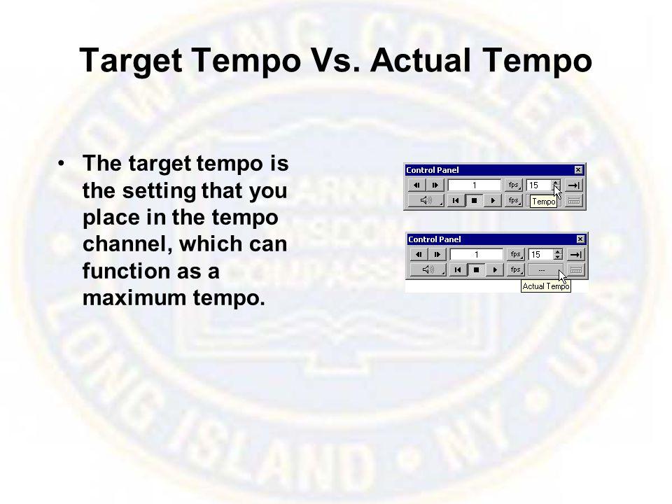 Target Tempo Vs.