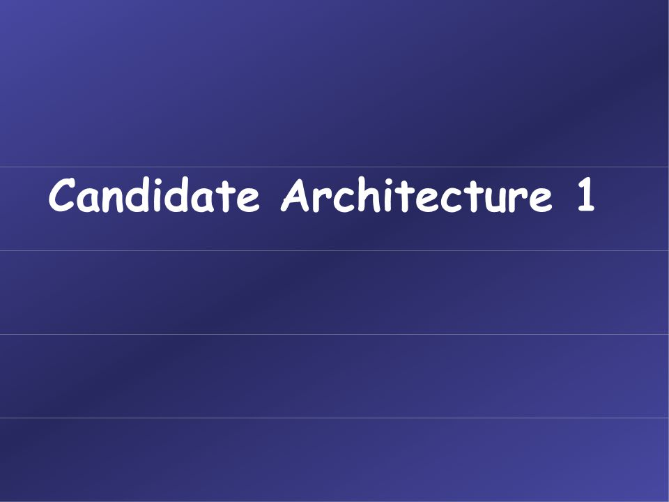 Candidate Architecture 1