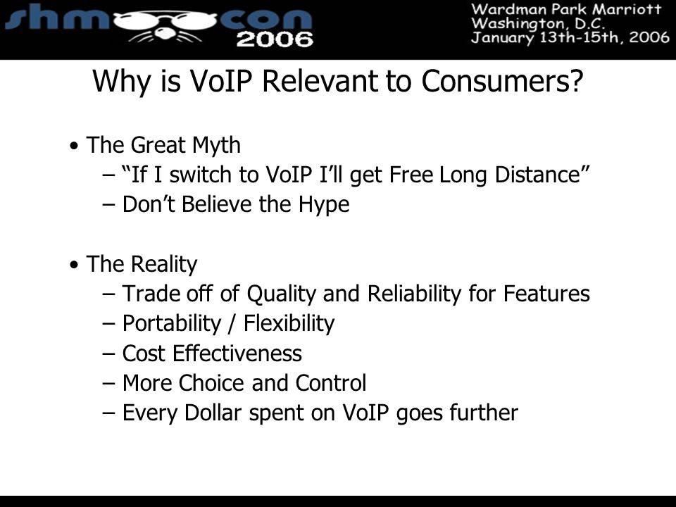 November 3-5, 2004 Santa Clara Convention Center Why is VoIP Relevant to Consumers.