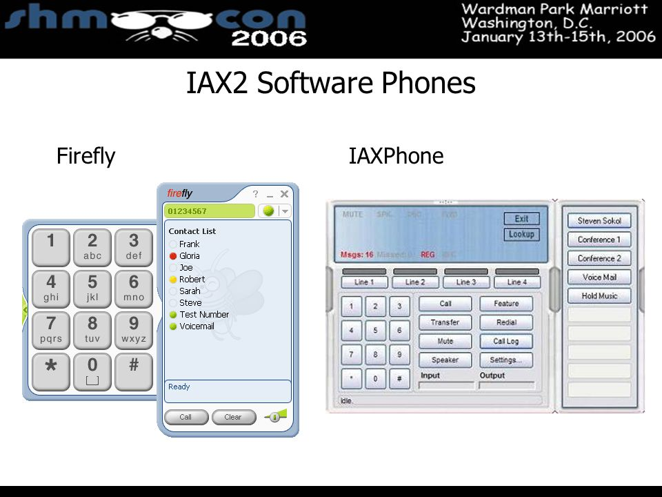November 3-5, 2004 Santa Clara Convention Center IAX2 Software Phones FireflyIAXPhone