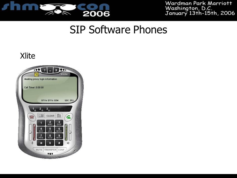 November 3-5, 2004 Santa Clara Convention Center SIP Software Phones Xlite