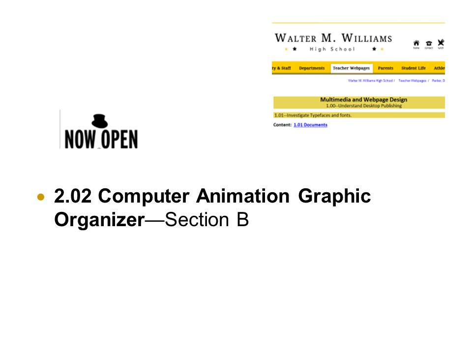  2.02 Computer Animation Graphic Organizer—Section B