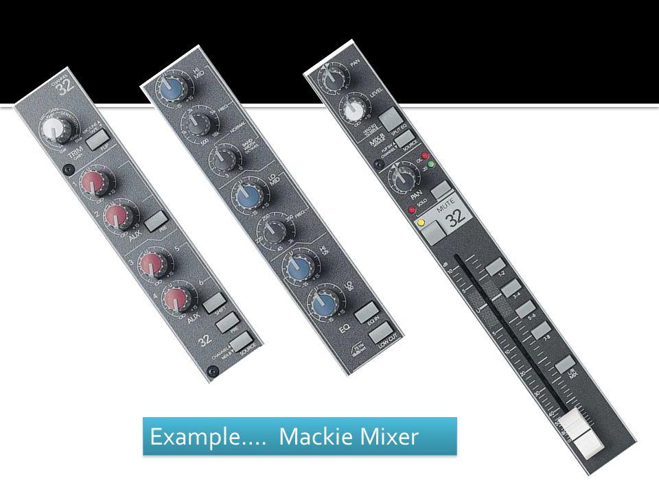 Example…. Mackie Mixer