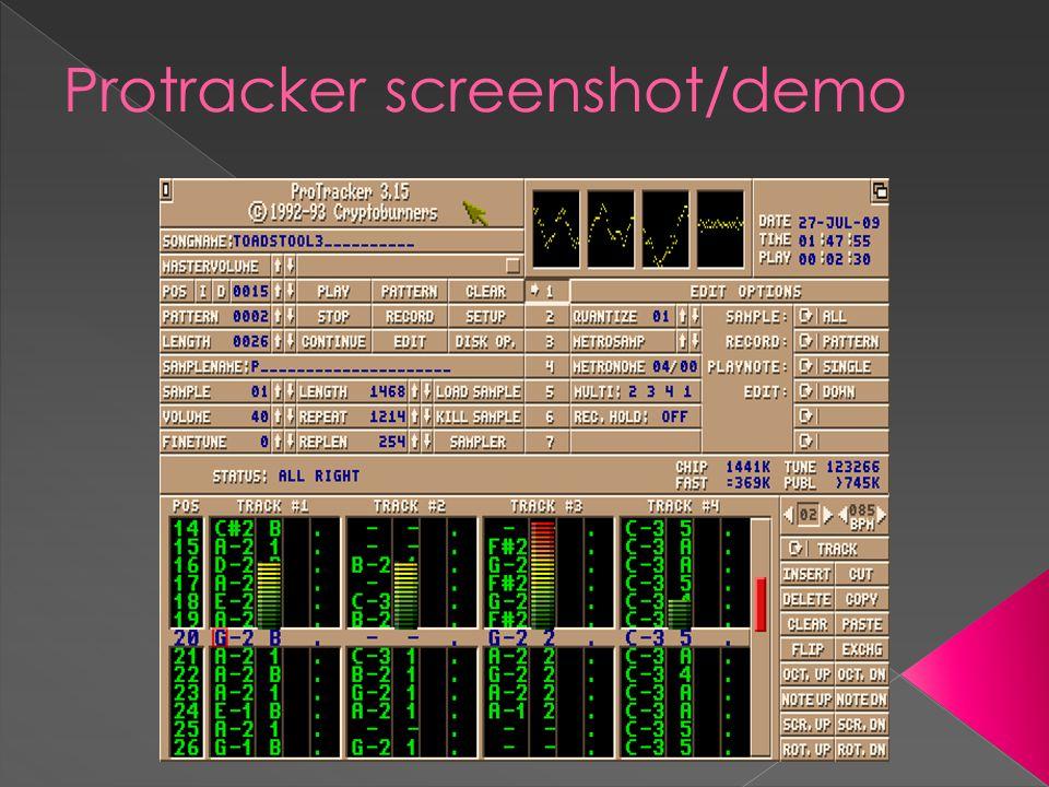 Protracker screenshot/demo