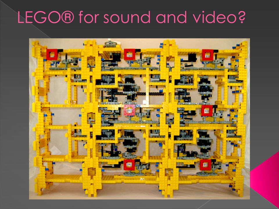 LEGO® for sound and video