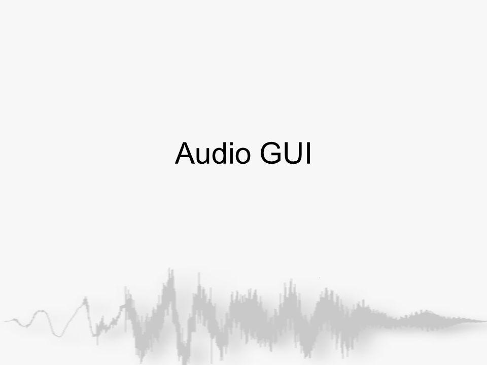 Audio GUI