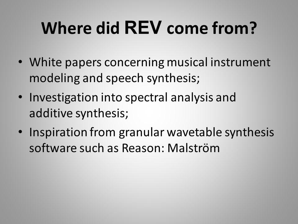 Why choose REV .
