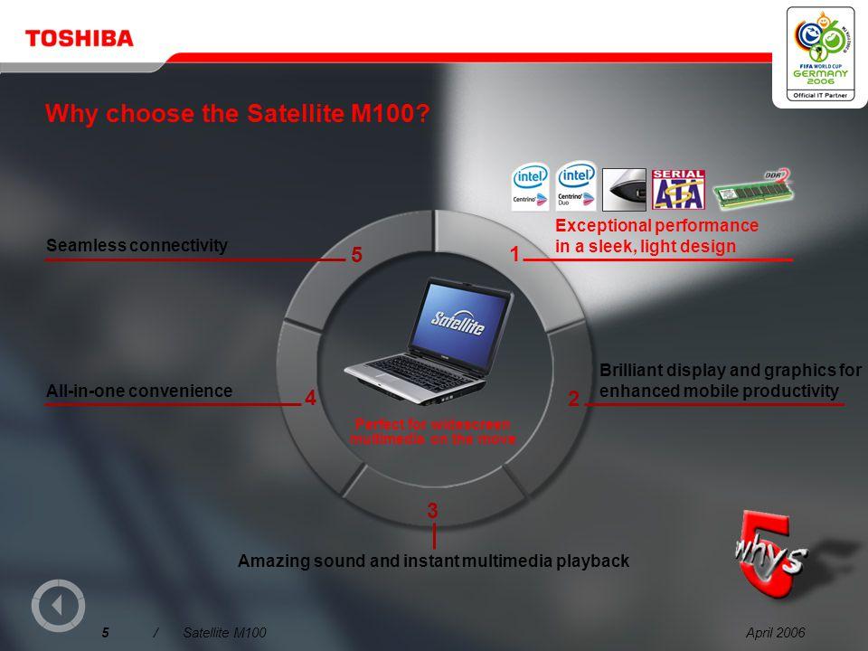 April 20065/Satellite M100 Why choose the Satellite M100.