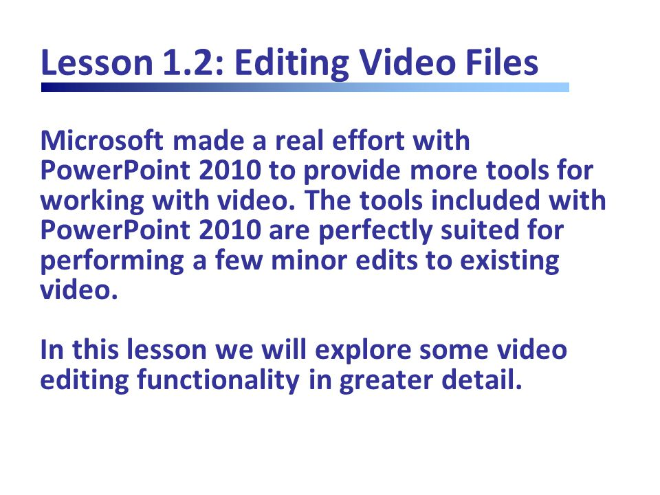 Lesson 4.1: Set up Your Show It's pretty easy to present a slide show in PowerPoint – just press F5 or click Slide Show – From Beginning/From Current Slide, and away you go.