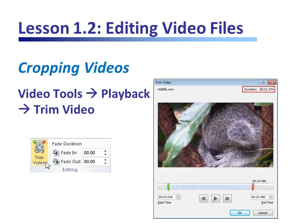 Lesson 1.2: Editing Video Files Correcting and Recoloring Video Video Tools  Format  Corrections or Color