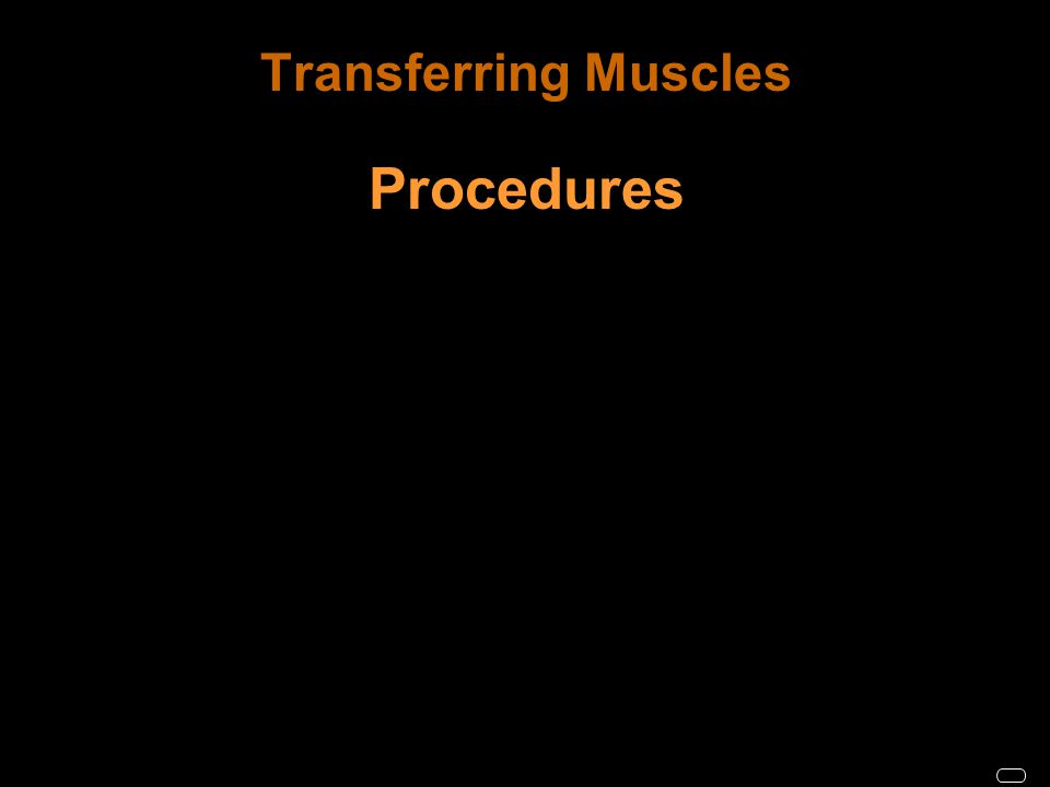 Transferring Muscles Procedures
