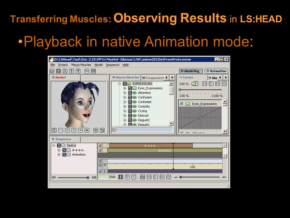 Playback in native Animation mode: