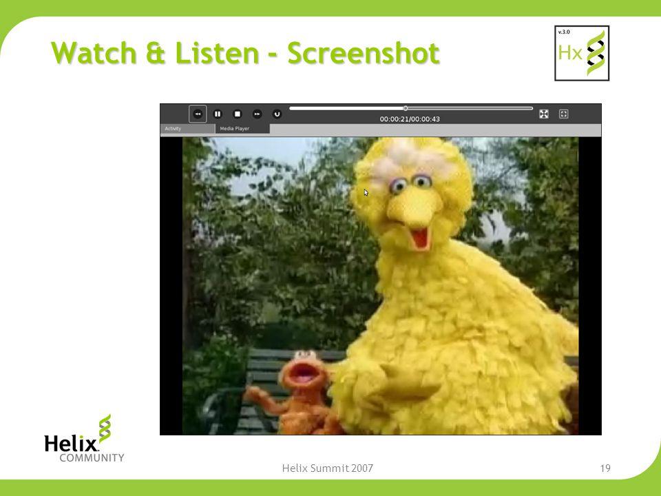 Helix Summit 200719 Watch & Listen - Screenshot