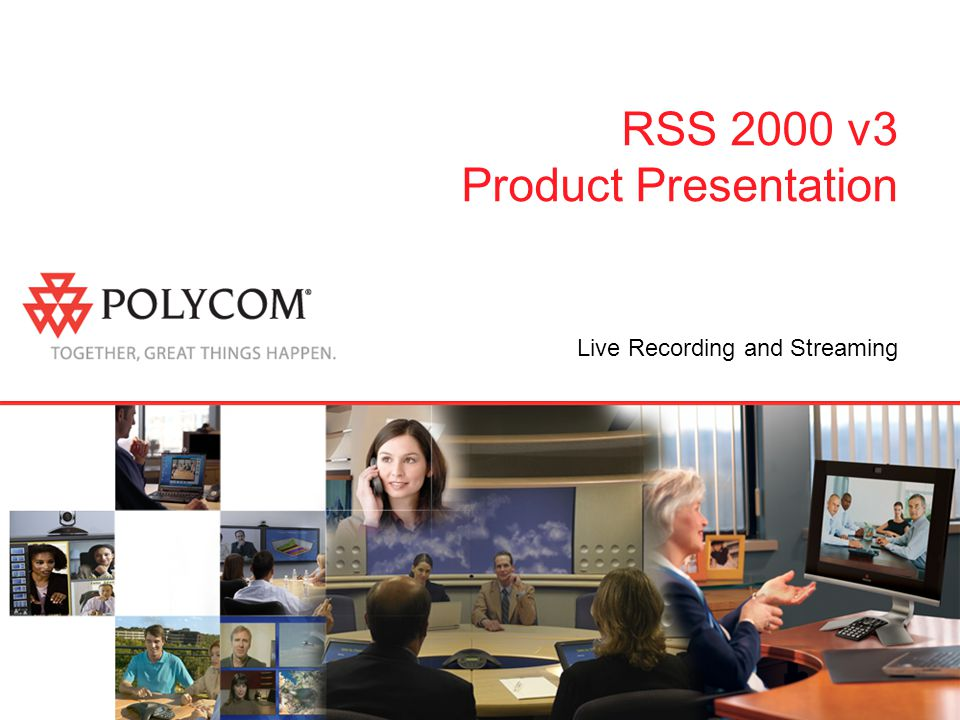 RSS 2000 v3 Product Presentation Live Recording and Streaming