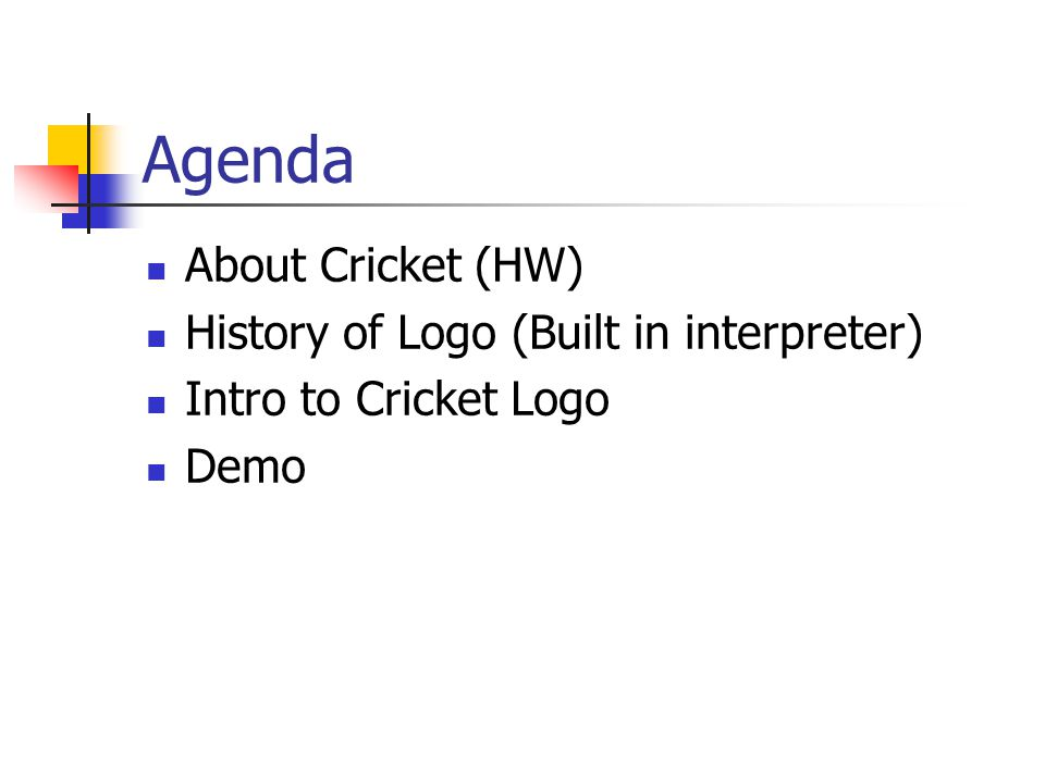 About Cricket LIGHT SENSOR MAG. REED SWITCH DC MOTOR TOUCH SENSOR IR SENSOR BREAK BEAM SENSOR