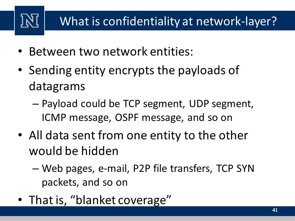 What is confidentiality at network-layer.
