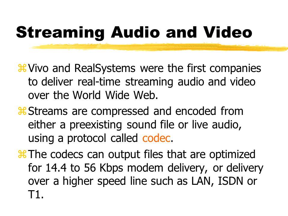 z Audio file alone RealMedia Plug-In Presentation