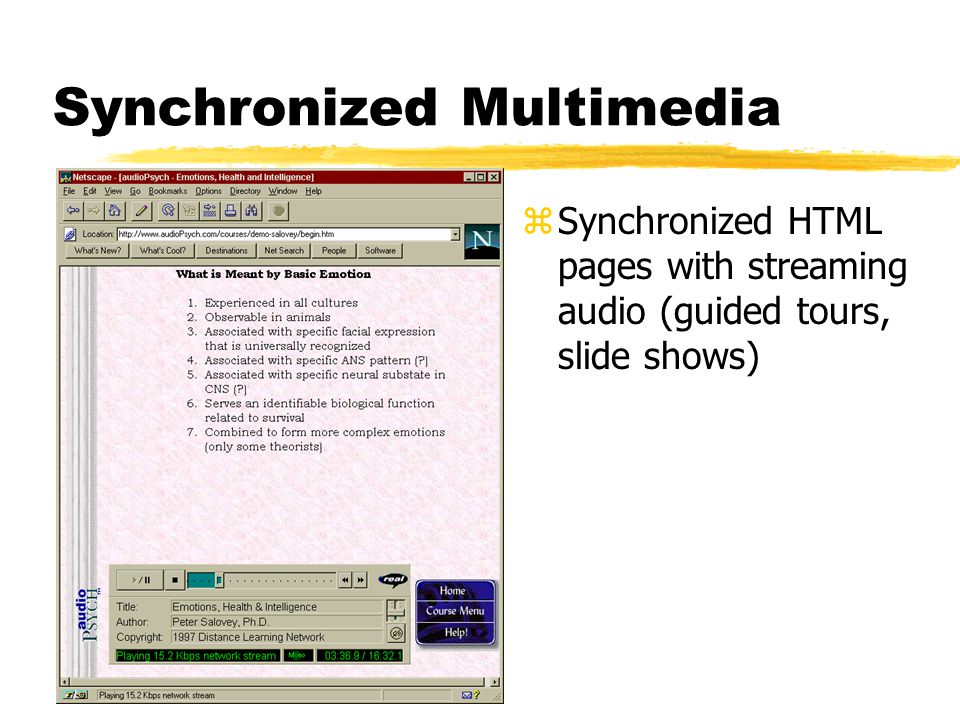 Referencing the File zHREF: Patient case zEMBED: zRealPlayer Controls and Options: CONTROLS, AUTOSTART, CONSOLE, and NOLABELS