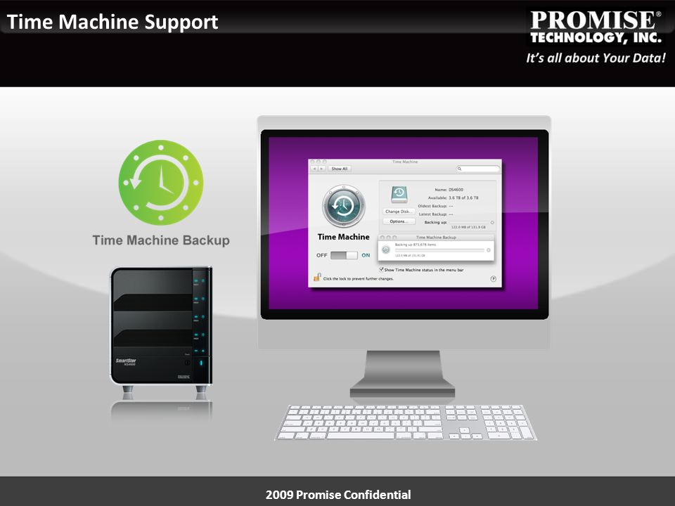 2009 Promise Confidential Time Machine Support