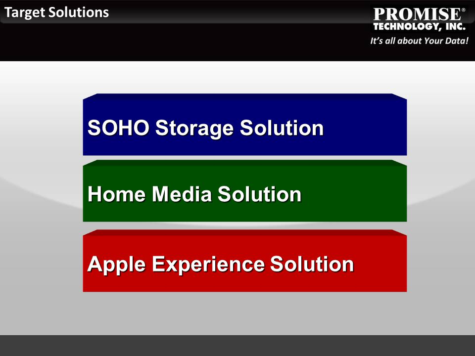 Target Solutions SOHO Storage Solution Home Media Solution Apple Experience Solution
