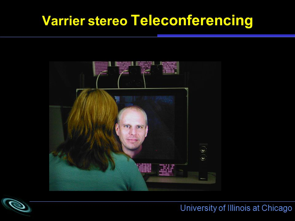 University of Illinois at Chicago Varrier stereo Teleconferencing