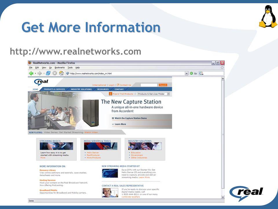 Get More Information http://www.realnetworks.com