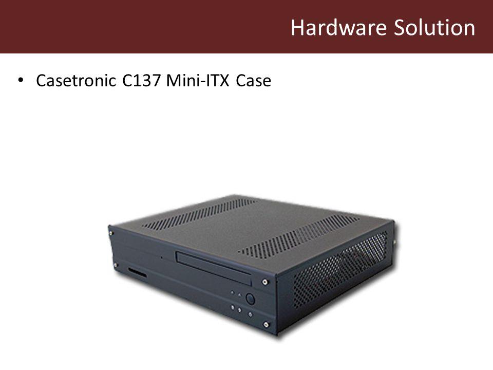 Hardware Solution Casetronic C137 Mini-ITX Case
