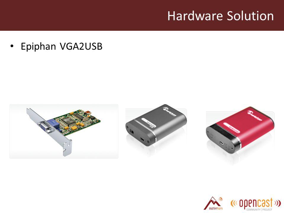 Hardware Solution Epiphan VGA2USB