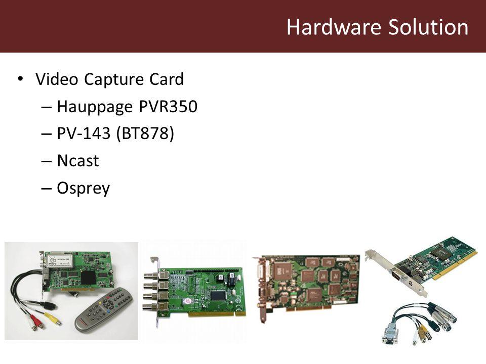 Hardware Solution Video Capture Card – Hauppage PVR350 – PV-143 (BT878) – Ncast – Osprey