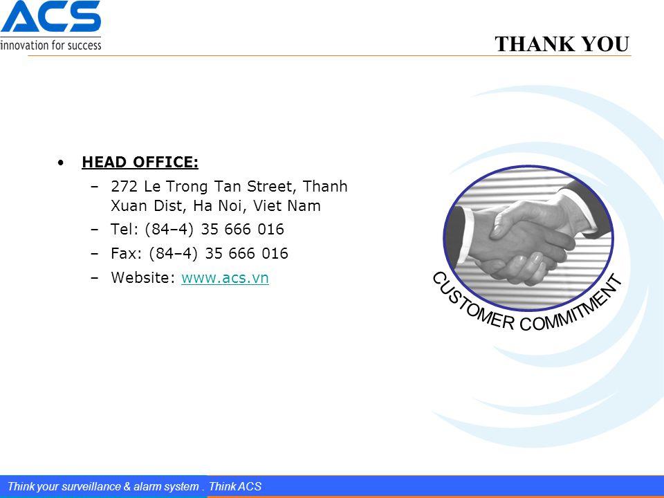 www.splendIDtechnology.com.vn 15 Confidential Property of SplendID Technology, JSC. Think your surveillance & alarm system. Think ACS HEAD OFFICE: –27
