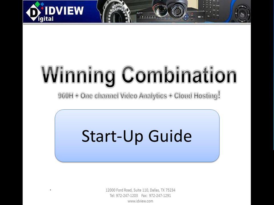 960H- Start Guide Start-Up Guide