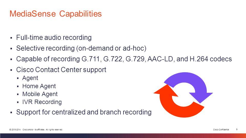 Cisco Confidential 9 © 2013-2014 Cisco and/or its affiliates.