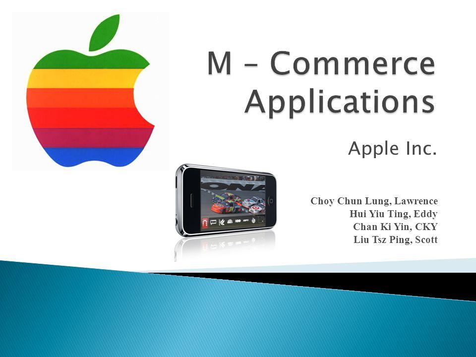 Apple Inc. Choy Chun Lung, Lawrence Hui Yiu Ting, Eddy Chan Ki Yin, CKY Liu Tsz Ping, Scott