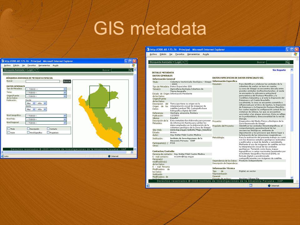 GIS metadata