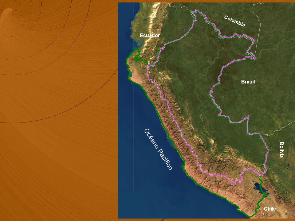 Océano Pacifico Colombia Ecuador Brasil Chile Bolivia