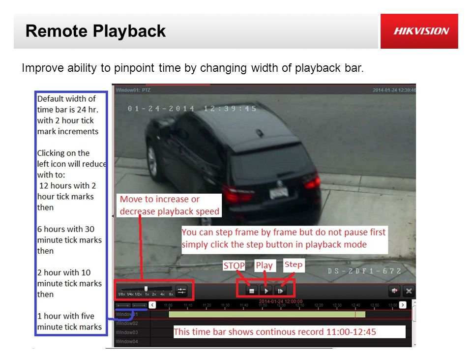 Remote Playback Improve ability to pinpoint time by changing width of playback bar.