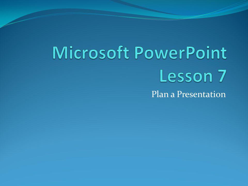 Plan a Presentation