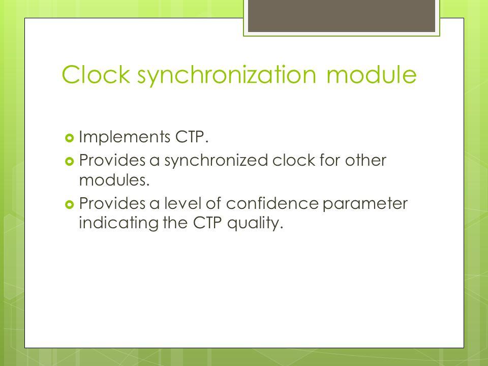 Clock synchronization module – class diagram